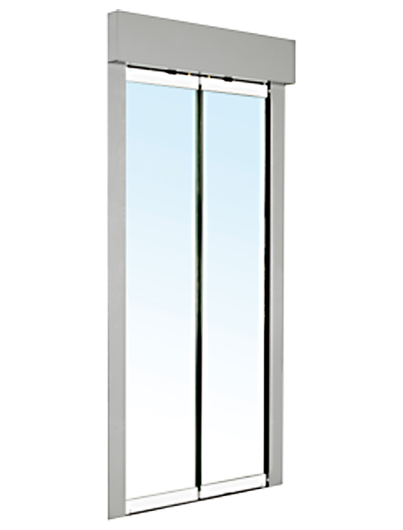 Double hinged glass door asiateck for Glass entrance doors residential